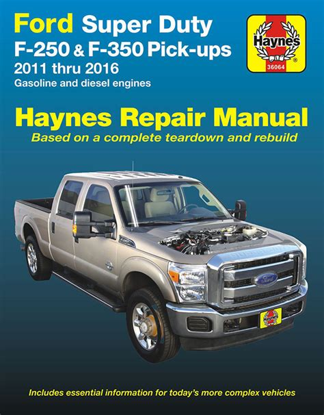 vehicle repair manual 2011 ford f series on board diagnostic system ford f250 f350 super duty repair manual 2011 2016 haynes 36064