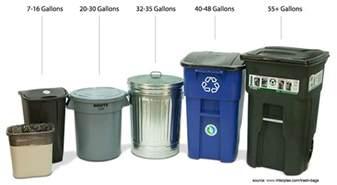 trash bin sizes climate smart