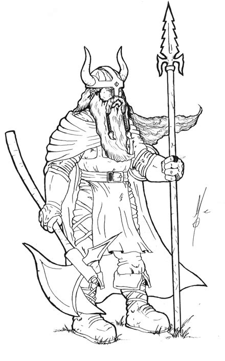 Viking Warrior Free Colouring Pages Coloring Pages Vikings