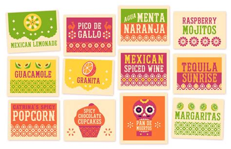 Mexican Printable Signs Instantly Download Easy Party Diy Templates In 2018 All About Dia De Food Signs Template