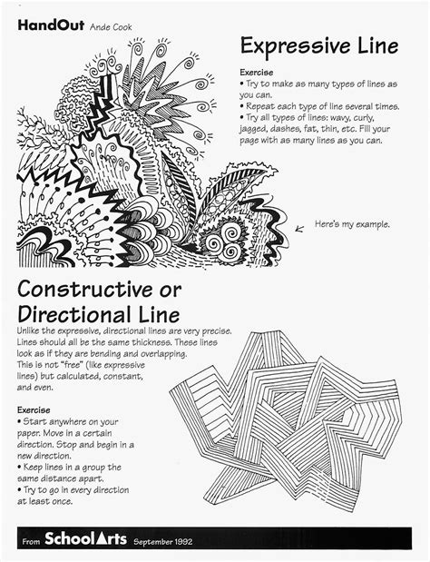 printable elementary art worksheets no corner suns free expressive line handout and