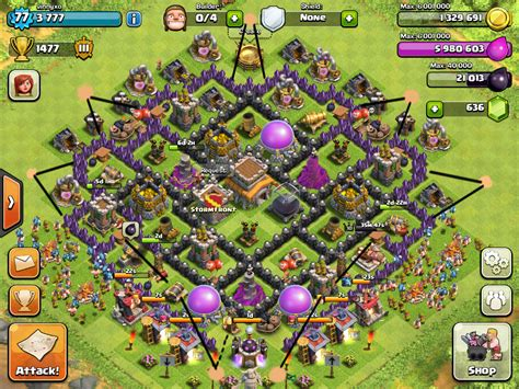 coc layout th8 new best th8 trophy base