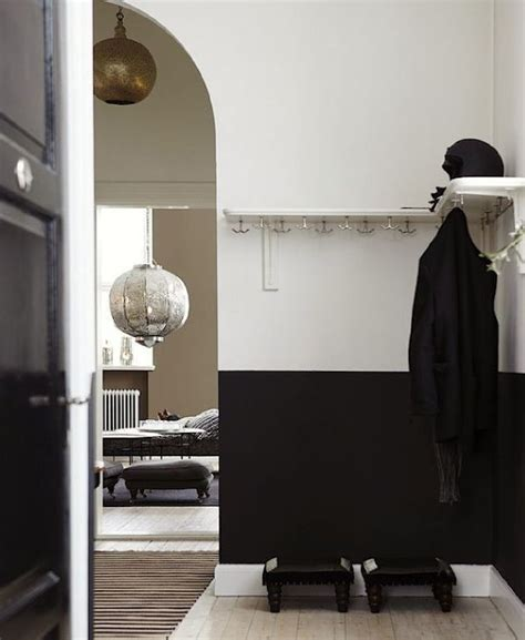 black painted room white and black half painted room ideas