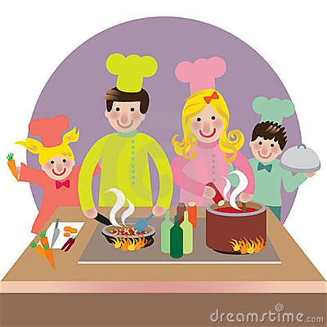 clipart famiglia family cooking clipart