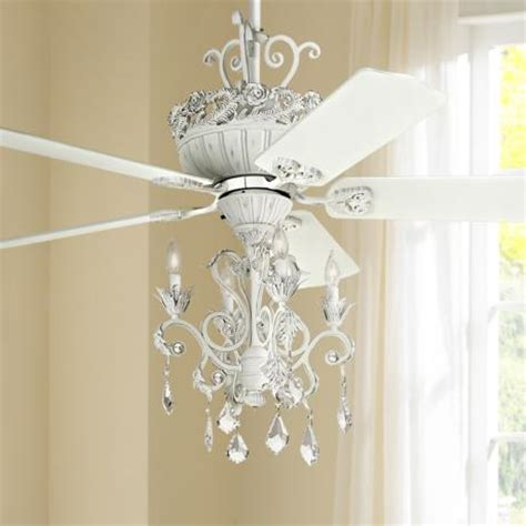 Chandeliers With Fans 52 Quot Casa Chic Rubbed White Chandelier Ceiling Fan 12277 4g156 Ls Plus