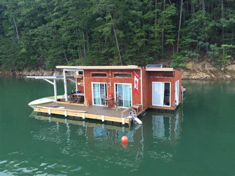 mini house boat a small off grid floating home on fontana lake in almond