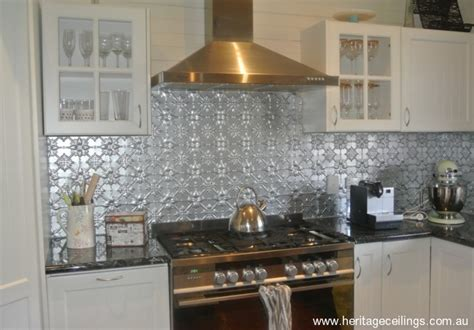 Kitchen Island Metal by Economical Pressed Metal Splashback Applied With Wattyl Killrust Paint