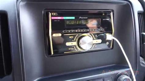chevy silverado  pioneer double din radio usb fhxui