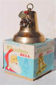 Mechanical Decor vintage gold aluminum christmas bell musical music box