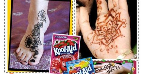 henna tattoo kool aid kool aid tattoos homemade henna here is a quick little