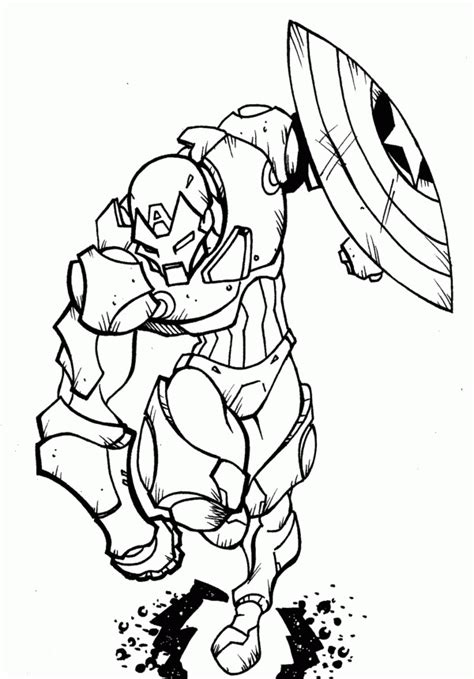 captain america and ironman coloring page 14 pics of captain america vs iron man coloring pages