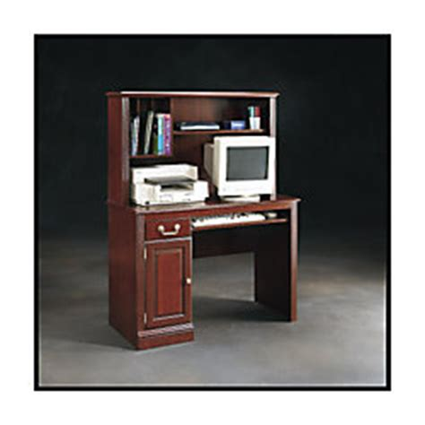Sauder Roanoke Computer Desk With Hutch Classic Cherry By Office Depot Desk With Hutch