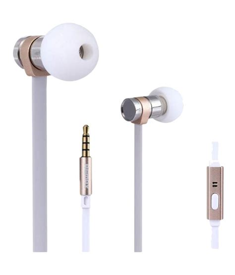 Remax Earphone With Microphone Rm 565i buy remax rm 565i ear buds wired earphones with mic white gold at best price in india