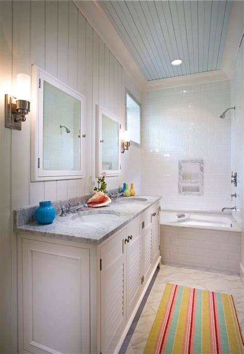 blue bathroom ceiling bathroom bathroom ideas coastal bathroom with painted