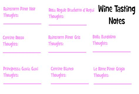 printable wine tasting note cards fun bachelorette ideas how to host a wine tasting party