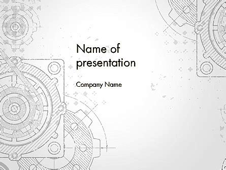 Machine Drawing Powerpoint Template Backgrounds 13250 Poweredtemplate Com Engineering Drawing Ppt Free