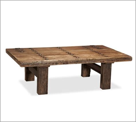 Rectangle Wood Coffee Table by Hastings Reclaimed Wood Rectangular Coffee Table Pottery