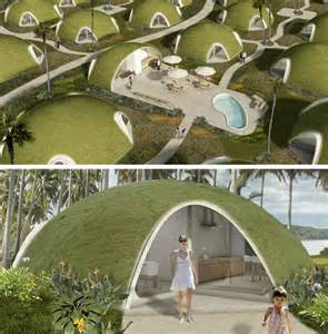 Earth Sheltered House Plans binishells green pods reinvent retro cool housing shapes