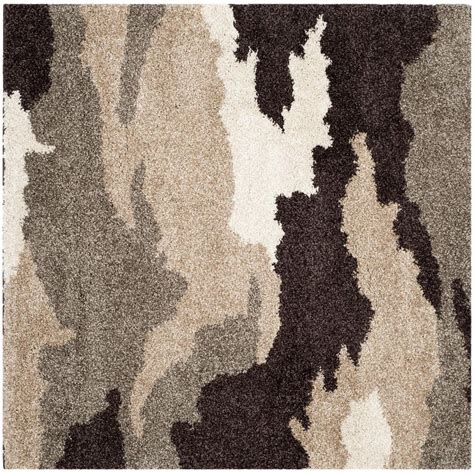 4 foot square rug safavieh florida shag beige multi 4 ft x 4 ft square area rug sg453 1391 4sq the home depot