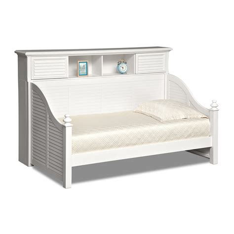 white day beds seaside twin bookcase daybed white american signature