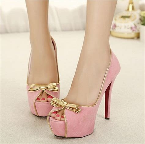 pink bow high heels baby pink bow front high heels 183 enix fashion 183
