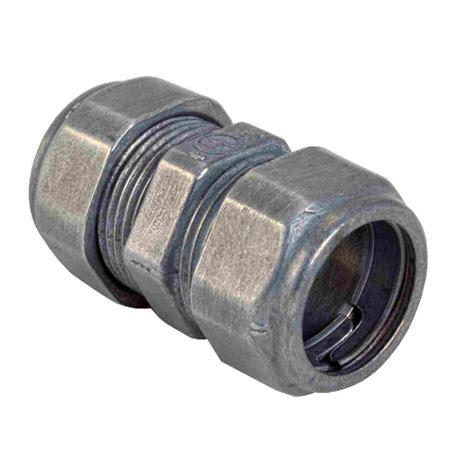 house electrical fitting zinc die cast emt couplings compression type emt