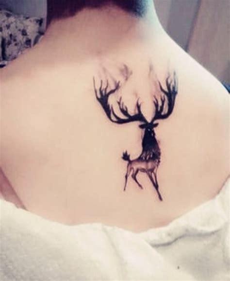 森林系个性小鹿纹身