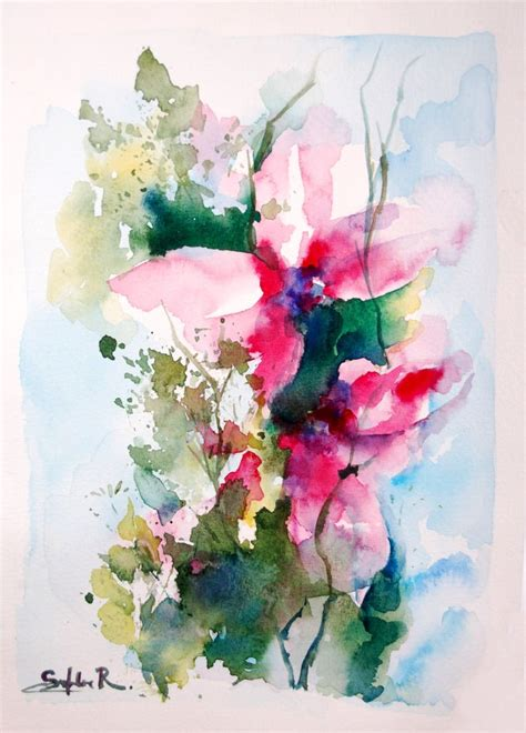 libro watercolour flower portraits 6740 migliori immagini 2 4 art watercolor flowers su primavera e rosa
