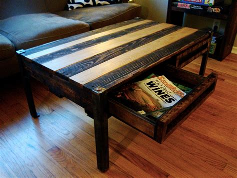 Wooden Pallet Coffee Tables Reclaimed Wood Pallet Coffee Table