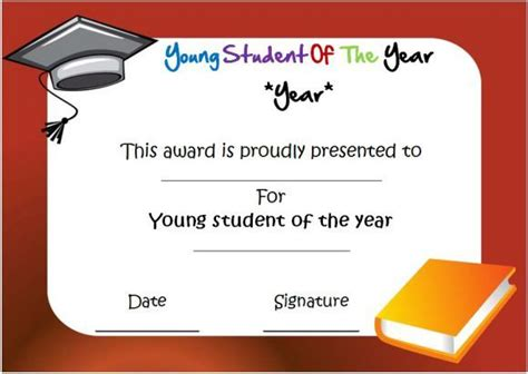 student of the year award certificate templates student of the year award certificate templates