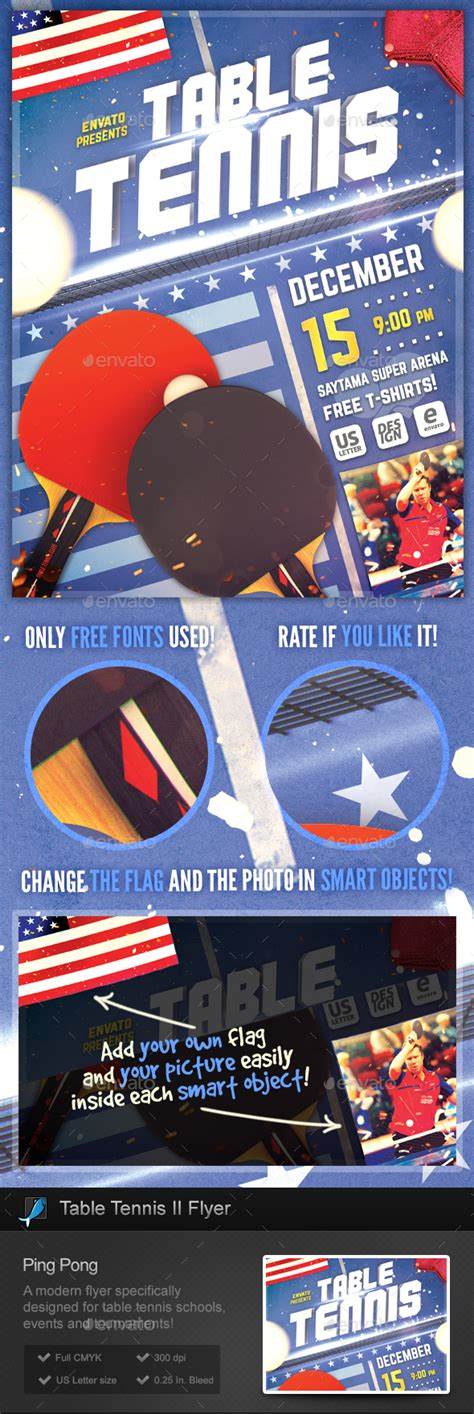 Table Tennis Ii Ping Pong Flyer Template By Stormdesigns Graphicriver Free Pong Flyer Template