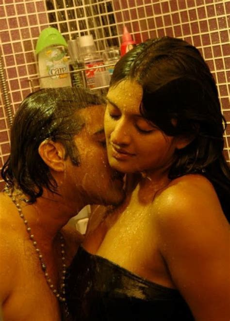 bathroom scene hot vimala raman in wet bath towel in bathroom hot photos