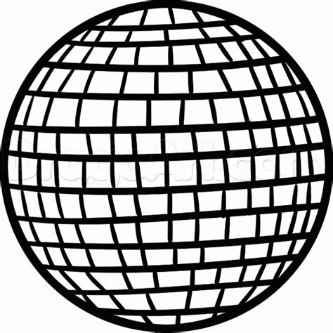 how to draw a disco ball step by step stuff pop culture