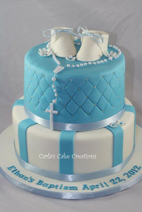 25 best ideas about boys christening cakes on