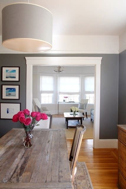 love the gray farm table gray walls love for neutral room love this
