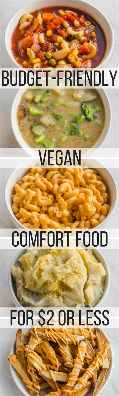 Vegan Comfort Food Cookbook by 5 Budget Friendly Vegan Comfort Food Recipes 2