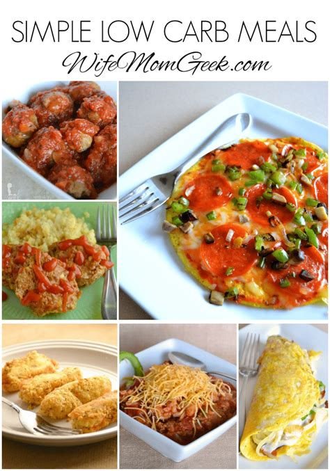 simple low carb meals