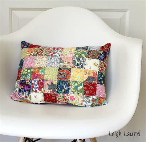 Patchwork Pillowcase - patchwork blossoms pillow favequilts