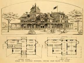 Craftsman Bungalow House vintage victorian house plans 18 century victorian house