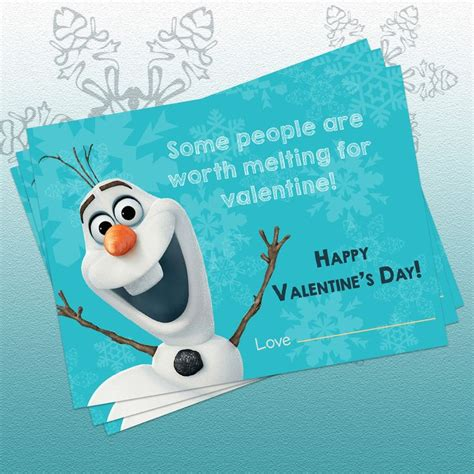 olaf printable valentines day cards 7 best images about kids valentines crafts on pinterest