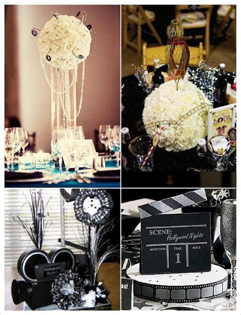Decoration Table Cinema by Deco Mariage Theme Cinema Idees Mariage