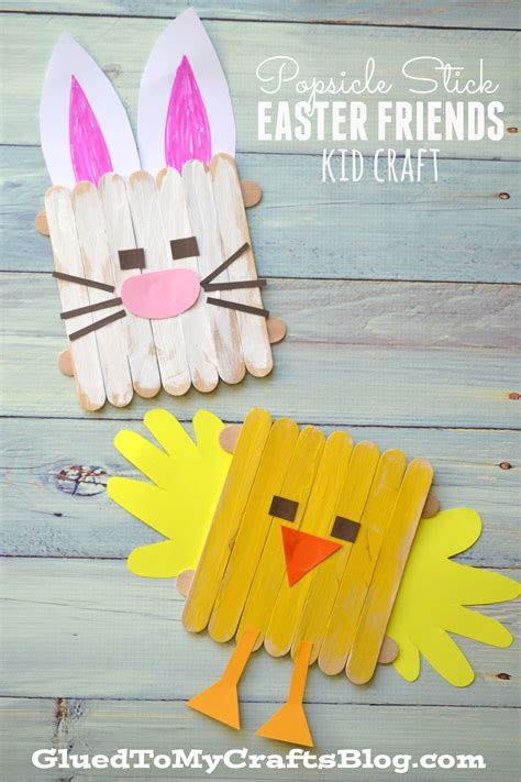 arts and crafts with popsicle sticks for popsicle stick easter friends kid craft easter and craft