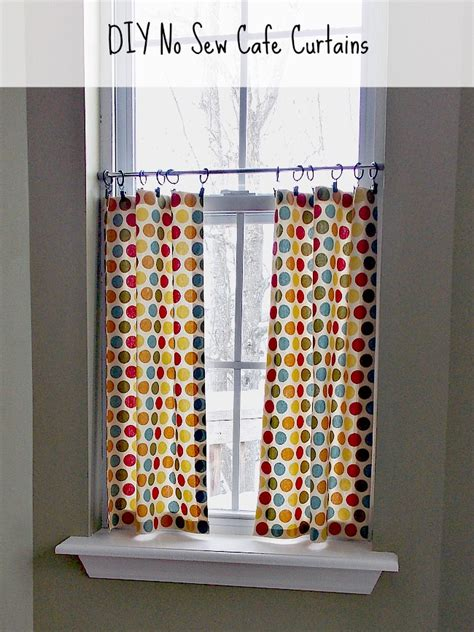 how to make your own kitchen curtains diy no sew caf 233 curtains sweet parrish place