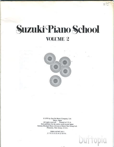 Suzuki Piano Volume 2 Suzuki Piano School Volume 2 The Suzuki Method Ebay