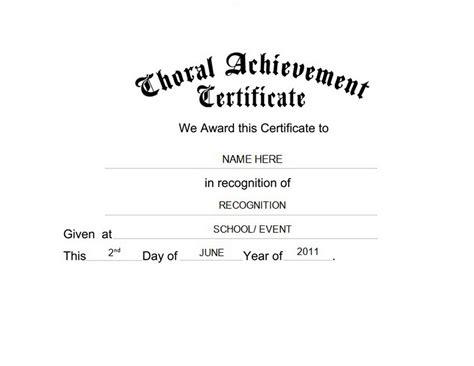 choir certificate template choral achievement certificate free templates clip