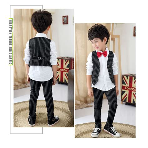 Blazer Baby Stripblazer Salurouterwearcaedigansale boys suits for weddings stripe blazers jackets menino prom suit baby sets costume garcon