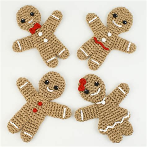 knitted gingerbread free pattern gingerbread family crochet patterns by planetjune