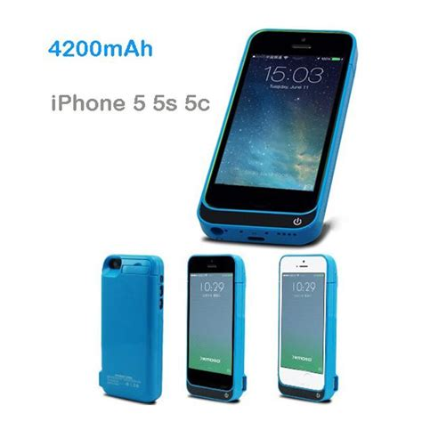 Power Battery 4200mah For Iphone 5 5s 5c 4200mah external battery backup charger pack power bank rechargeable charging cover for