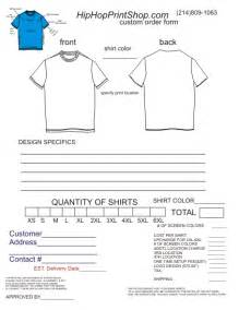 template order form for t shirts new calendar template site