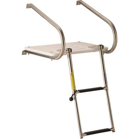 ladder for swim platform on boat garelick eez in swim platform with 2 step telescoping